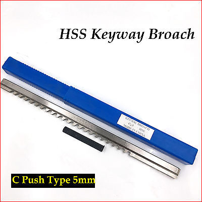 Hss Metric Keyway Broach 5mm C Push-type Cnc Machine Tool Accessories