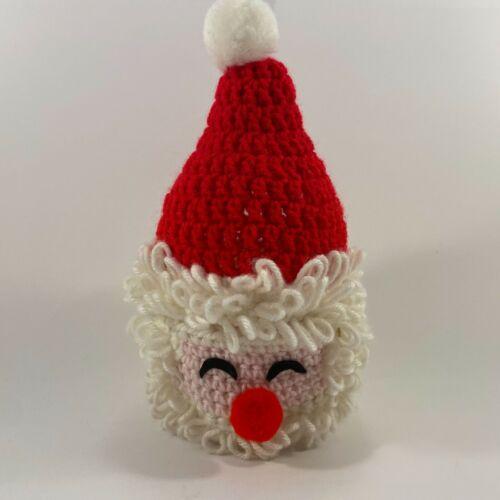 Crochet Santa Head Christmas Decor