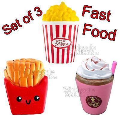 3 pcs fast food jumbo slow rising