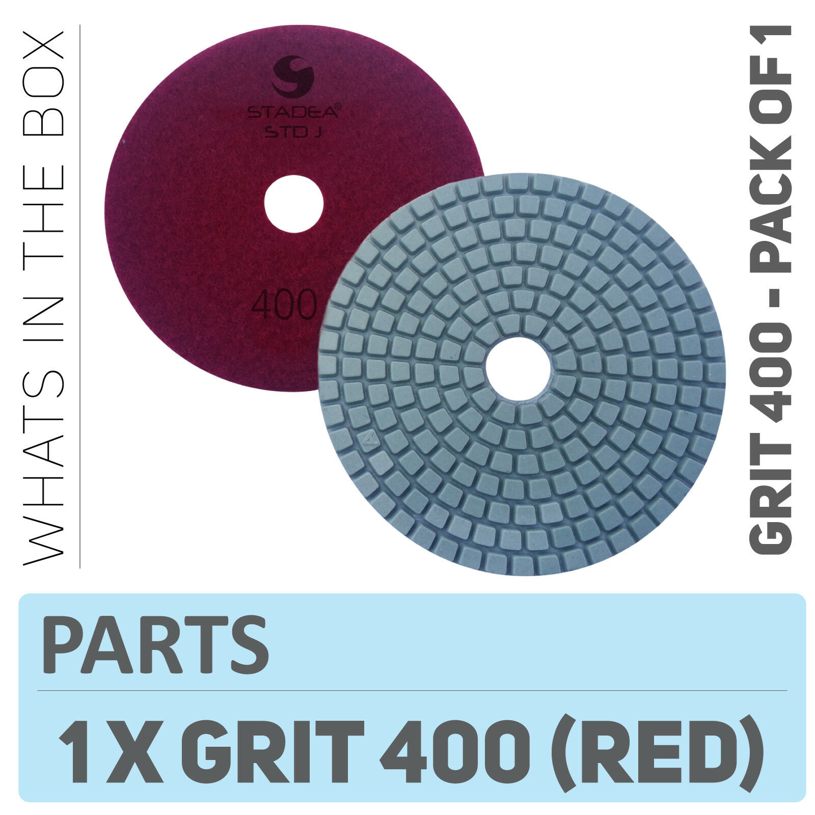 5 inch Diamond Polishing Pads Wet//Dry 10+1 Pieces Granite Concrete Marble Stone