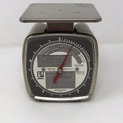 Vintage Pelouze Postal Scale Model Z5 5 Pound Made In Usa 1988