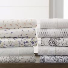 The Home Collection - 4 Piece Pattern Bed Sheet Sets - 6 Designs