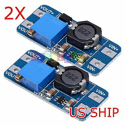 2 Pcs Mt3608 Dc-dc Adjustable Step-up Power Converter Module For Arduino More