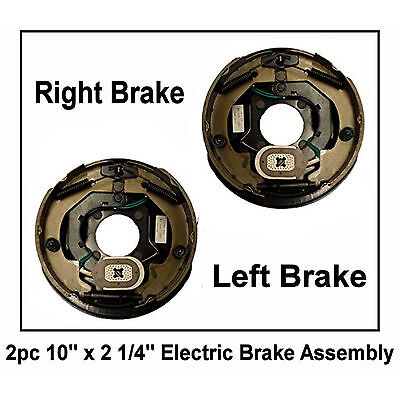 """10"""" x 2.25"""" Electric Trailer Brake Assembly Right Left 3500lb axle 2 1/4"""" Pair"""