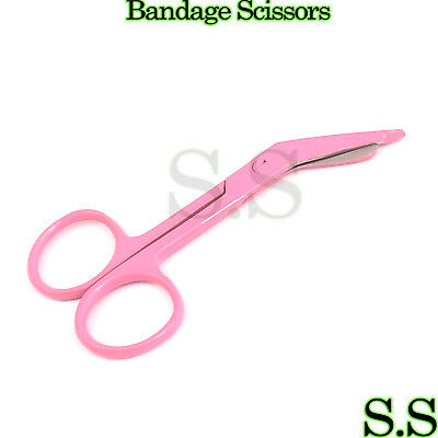Lister Bandage Scissors 3.5 Pink Color Surgical Instruments Stainless Steel