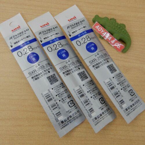 Uni JETSTREAM 0.28mm Refill Ink for Jetstream Edge SXR-203-28 BLUE x 3-Count