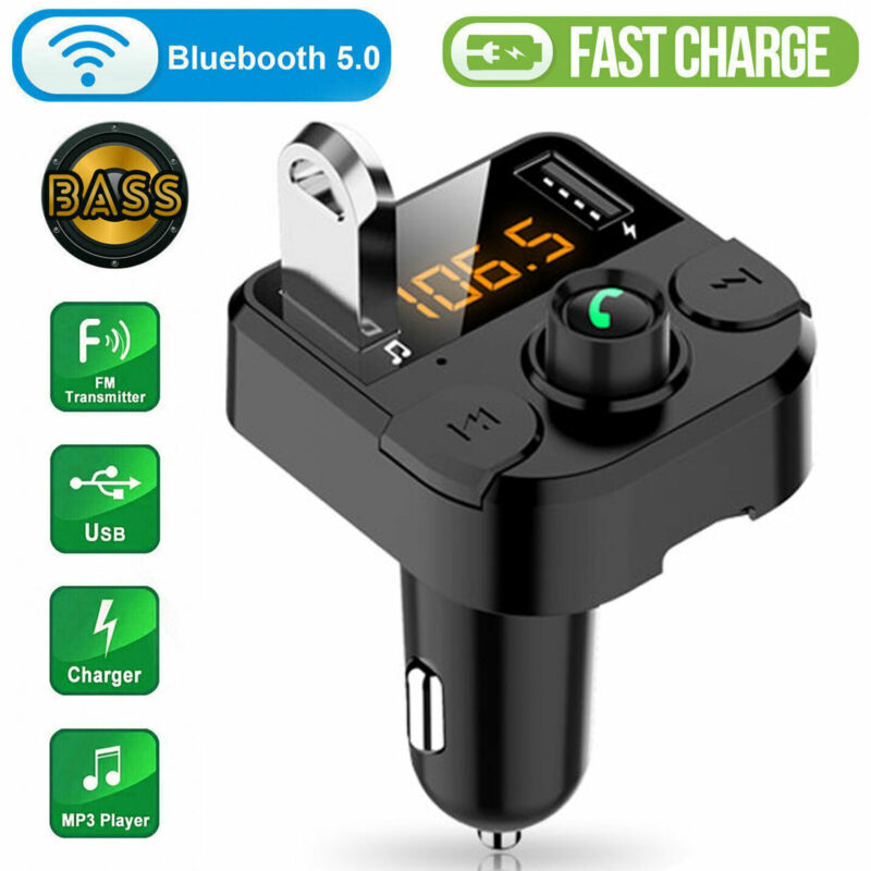 Bluetooth Car FM Transmitter MP3 Player Hands free Radio Adapter Kit USB Charger