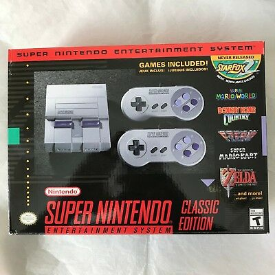 Super Nintendo System Snes Classic Edition Mini Added 820  Games  Fast Ship  New