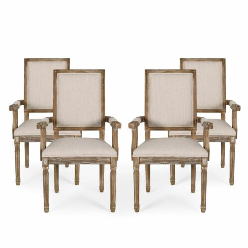 Zentner French Country Wood Upholstered Dining Chair Chairs
