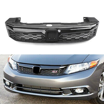 SI Style Front Hood Grill Grille Replacement For 2012 Honda Civic Sedan 4Door AT - Honda Civic Grille Replacement