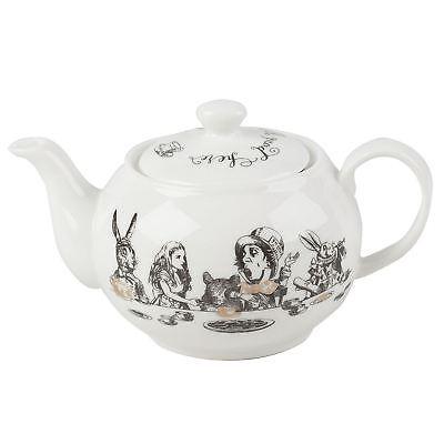Alice In Wonderland Mini Tea Pot Fine China White Teapot 450ml Gift Boxed Fine China Teapot