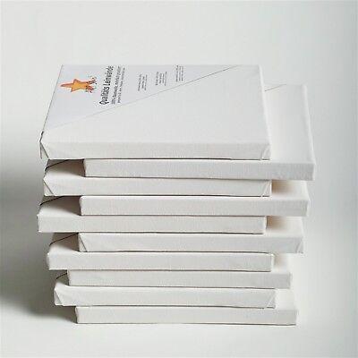 10 ART-STAR Leinwände auf Keilrahmen | 20x20 cm | 100% Baumwolle, malfertig