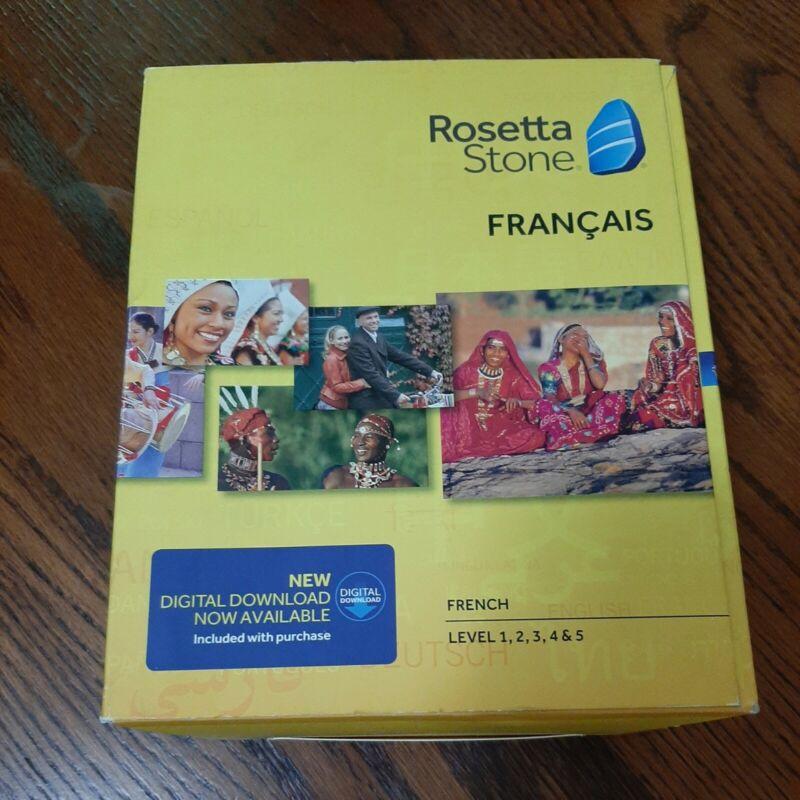 Rosetta Stone French Level 1-5 Version 4 PC Windows/MAC