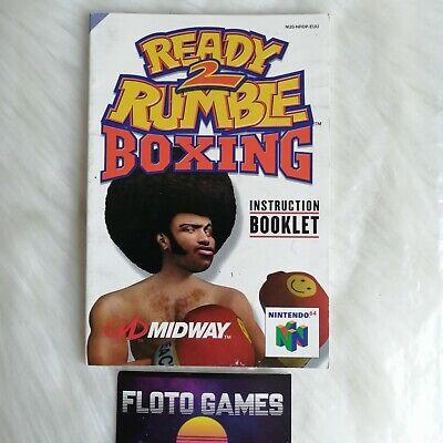 Notice de Ready 2 Rumble Boxing pour Nintendo 64 N64 PAL EUU - Floto Games