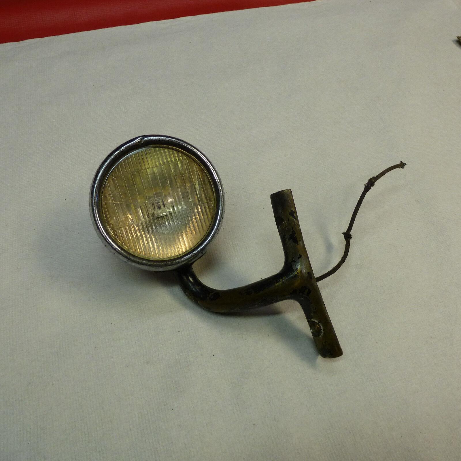 1920's 1930's FORD CHEVY RUNNING LIGHT BULLET HEAD LIGHTW/BRACKET RATROD MODEL A