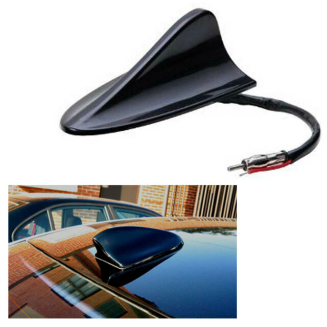 12V Black Gloss AM FM Radio Shark Aero Fin Car Antenna Aerial BMW Audi Universal
