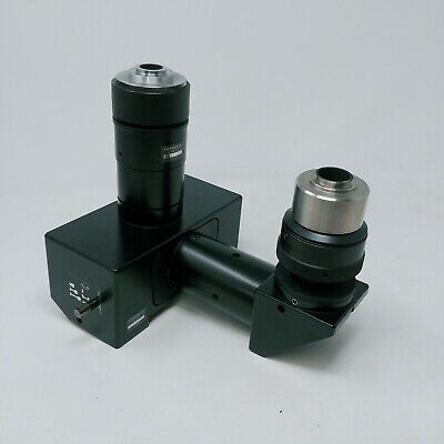 Olympus Microscope U-dpt Dual Photo Port For Trinocular Bx Series With Adapters