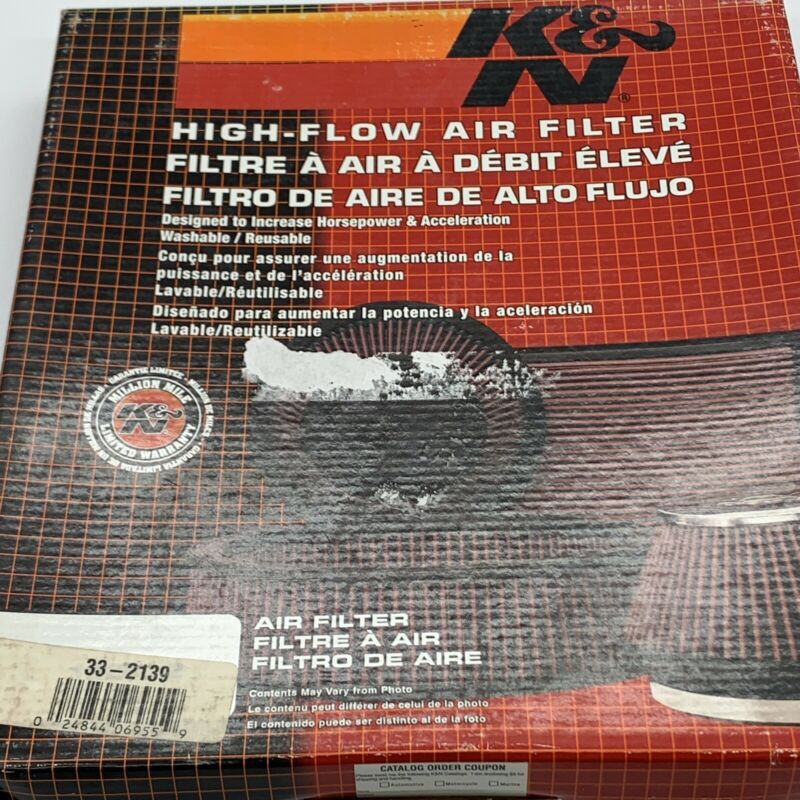 K&N 33-2139 High Flow Air Filter NOS Open Box Sealed In Wrapper