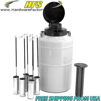 3 L Cryogenic Container Liquid Nitrogen Ln2 Tank With Carry Bag Dewar Tank