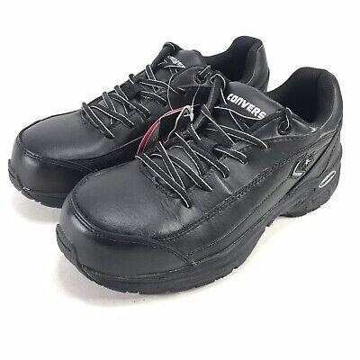 Converse Stealth Mens 6.5 Composite Toe Work Shoes NEW Black Oil Slip Resistant Mens Converse Work Shoes
