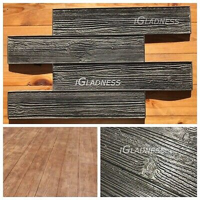 Wood Deck Concrete Stams Rubber Mats For Printing Texture