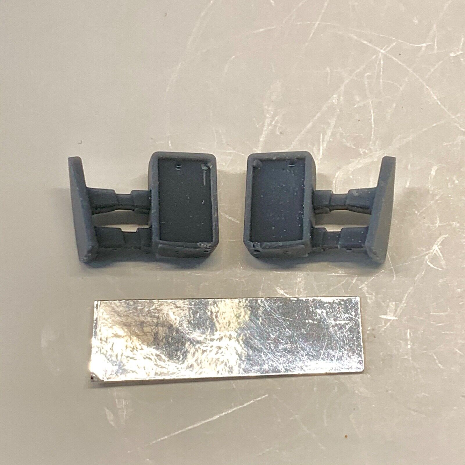 Resin Modern Mirrors for Truck Pickup Tow 1/24 1/25 Version