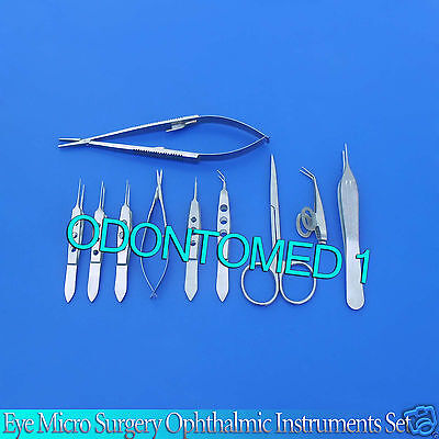 12 Pc O.r Grade Eye Micro Surgery Surgical Ophthalmic Instruments Kit Set