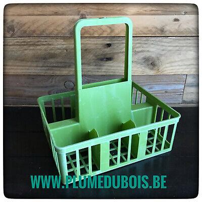 Vintage, ZD, porte PETITES bouteilles DBP, vert pomme. Boutique PlumeDubois.be