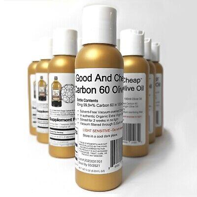 Carbon 60 Olive Oil 90mg/100ml Organic 99.9+% Solvent-Free C60oo Lipofullerene