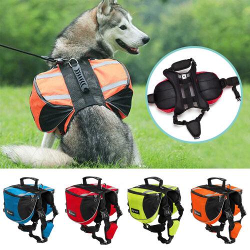 Hunderucksack Satteltasche Wandern Rucksack Outdoor Camping Soft Reflektierend