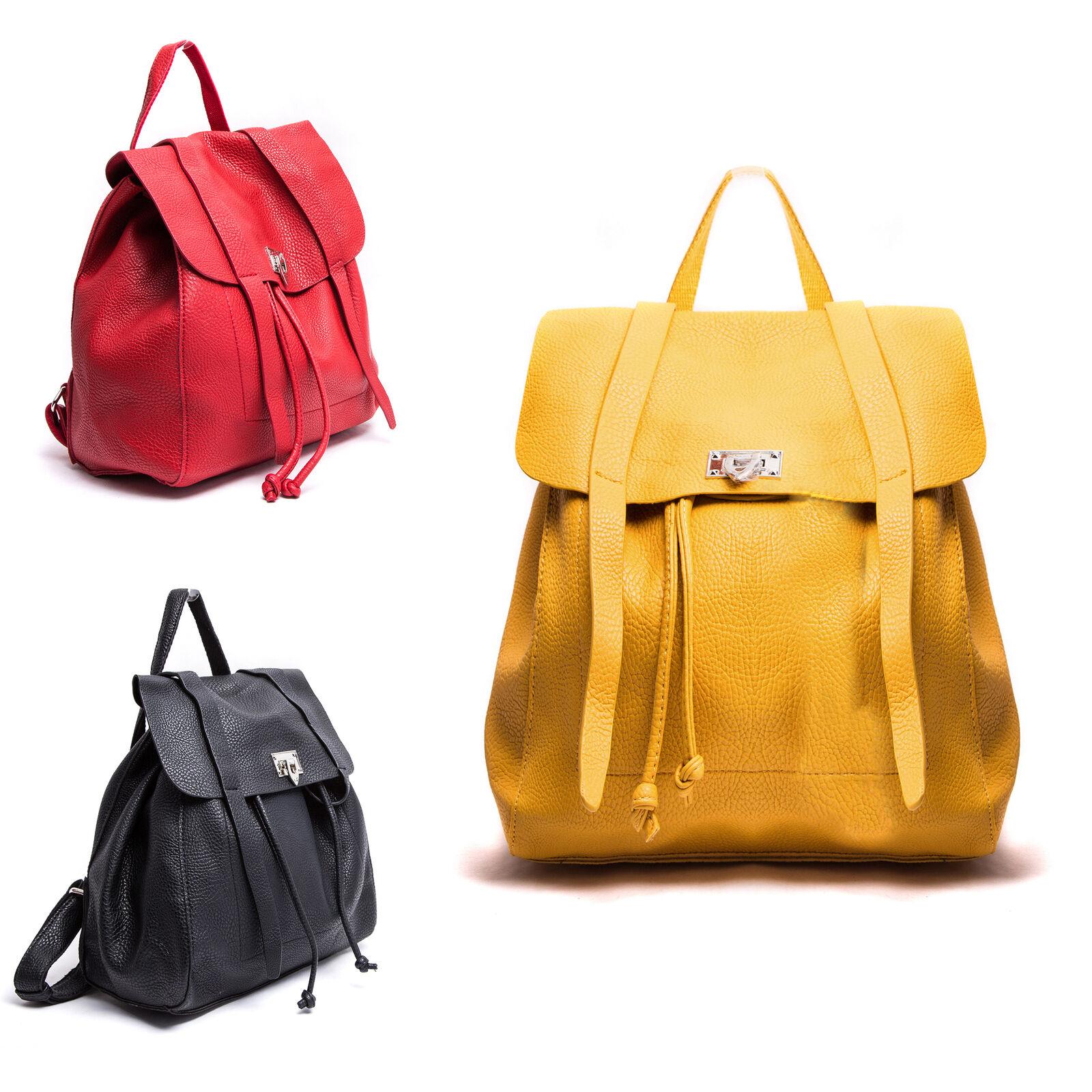 ZAINO DONNA ZAINETTO borsa eco pelle pattina hand bag vintage borsetta dsp1622 5