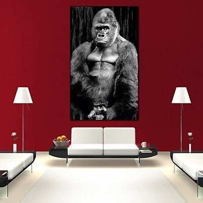 Gorilla Post (LEINWAND BILD ER XXL POP ART GORILLA ABSTRAKT AFFE KING KONG AFRIKA WAND POSTER)