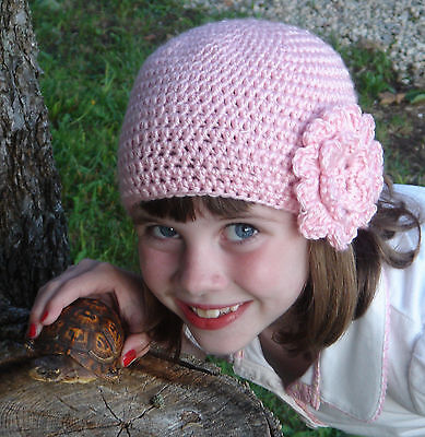CROCHET PATTERN for HAT with BIG FLOWER Baby, Child and Adult Size Instructions Crochet Baby Hat Pattern