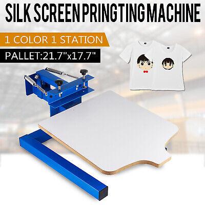 1 Color Silk Screen Printing Press Equipment 1 Station Screening Pressing Kit