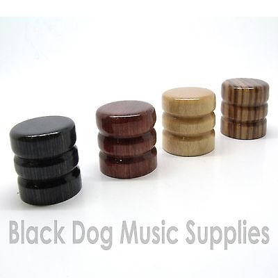 Wood guitar control knob Zebra, Ebony, Maple or Beach finish tone or volume