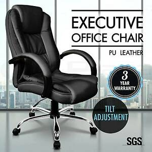 Executive Premium PU Leather Office Computer Work Chair Padded Melbourne CBD Melbourne City Preview