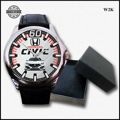 New Design FK8 Honda Civic Type R 2019 Super Car Sport Leather Watch Best
