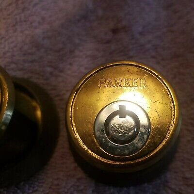 Pair Vintage Mortise Cylinders. Ace Round Keyway Keyed Alike. High Security