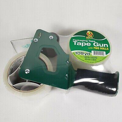 Duck Brand Foam Handle Tape Gun - 2x Clear 1.88 In. X 54.6 Yd. 2 Pack Double