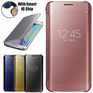 Slim-Mirror-Armour-Shockproof-Case-Cover-For-Samsung-Galaxy-S6-Edge