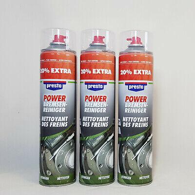 Presto 307287 Power Bremsenreiniger 600ml Spraydose mehr Druck 3 Stück online kaufen