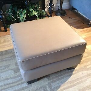 Leather ottoman or bench or stool