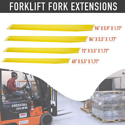 60728496 Pallet Fork Extensions For Forklifts Lift Truck Slide On Steel