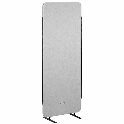 Vivo Gray 24 X 66 Inch Privacy Panel Office Partition Cubicle Room Divider