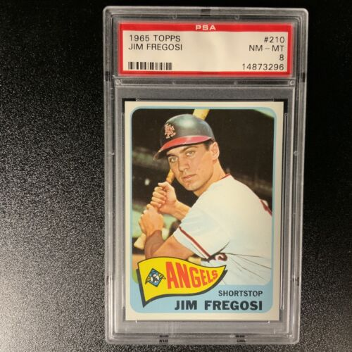 1965 TOPPS 210 JIM FREGOSI ANGELS PSA 8 NM-MT - $18.70