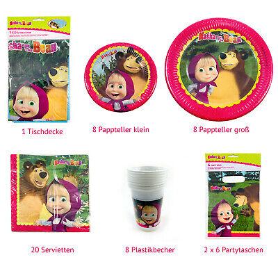 Dekoration Kinderparty Kindergeburtstag Masha und der Bär  - Dekoration Der Party