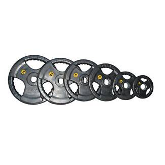 100KG COMMERCIAL OLY RUBBER PLATES - BRAND NEW - FREE QUICK LOCKS