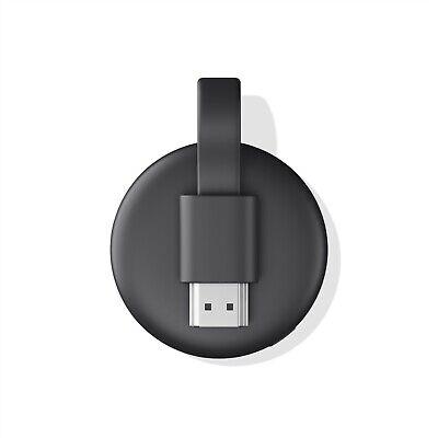 Google Chromecast 3rd Gen Digital HDMI Media Streaming  - Black