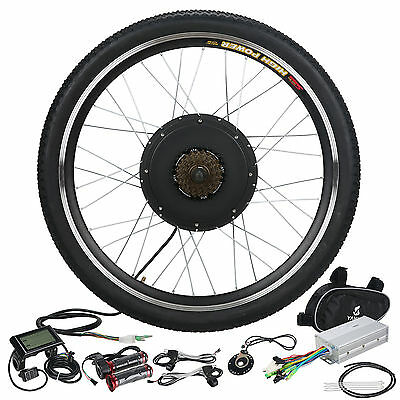 48V 1000W Rear Wheel Electric Bicycle Motor Kit eBike Hub Conversion LCD Meter