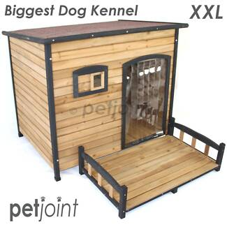 XXL Greyhound Dog House Large Wooden Pet Kennel Outdoor Indoor